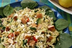 Picture of Orzo Salad with Tomatoes, Basil and Feta